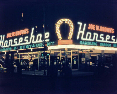 1957 HORSESHOE CLUB Las Vegas Glossy 8x10 Photo Casino Print Downtown Poster