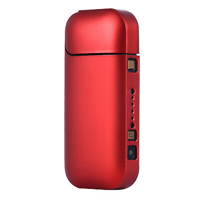 For iQOS 2.4 Plus Hard Case Sleeve Inlay Type Side Bottom Hole PC Film Red