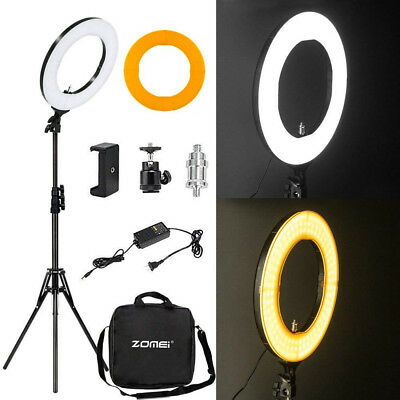 14'' Dimmable SMD LED Ring Light Kit (41W 5500K) Stand for Makeup Phone Camera