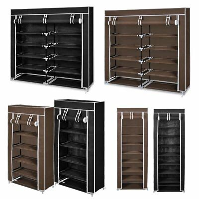 Fashion Dustproof Shoe Rack Cabinet Storage Organizer With Oxford Fabric Cover