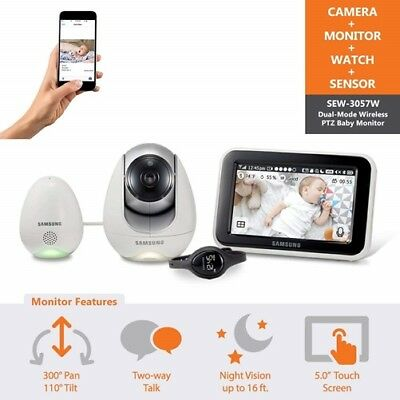 Samsung SEW-3057WN BabyView Wi-Fi Remote Viewing Baby Video Monitoring System