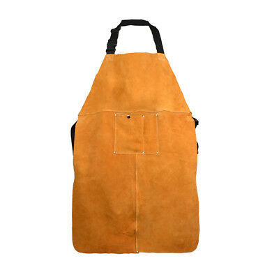 Cowhide Leather Welding Apron Soldering Protective Clothing Blacksmith W/ Pocket