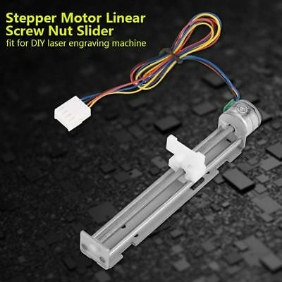 DC12V 2-phase 4-wire Stepper Motor Linear Screw Nut Slider DIY Laser Engraving