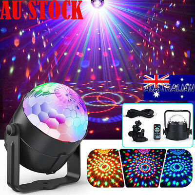 3W Remote Controls RGB LED Stage Light Crystal Ball Disco Xmas Club Party Lamp