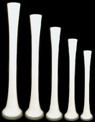 Beatuifull Twisted Glass Lily Vase Slender Tall 40cm 789