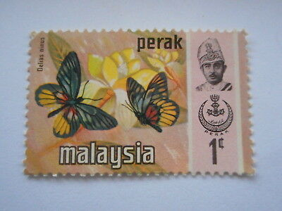 Malaysia Perak 1 cent stamp butterflies postally unused.