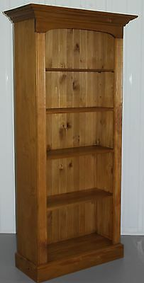 Large Solid Pine Farmhouse Country Bookcase Lovely Natural Wood Finish And Feel