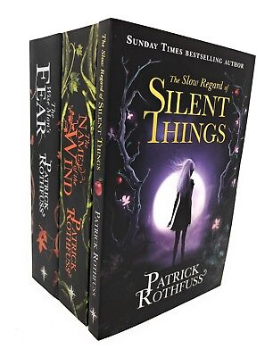 Patrick Rothfuss 3 Books Collection Set, Silent Things, Wind, Fear ...