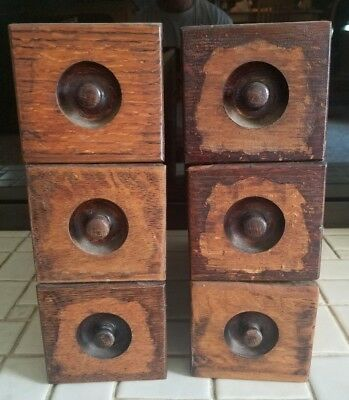 6 Antique Vintage Old Singer Treadle Sewing Machine Oak Wood Drawers From 1884