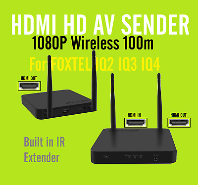 New 5.8GHz HDMI Wireless AV Sender Receiver for Foxtel IQ2 IQ3 +HDMI1x2 Splitter