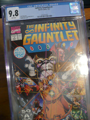 Infinity Gauntlet #1-6 CGC Graded Complete Set The Avengers Infinity War Thanos