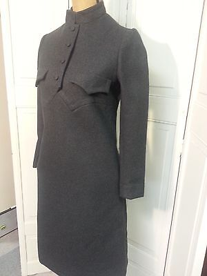 Vintage Geoffrey Beene Dress Gray Wool Size 8 Gracie's Nashville (Grammy Winner)