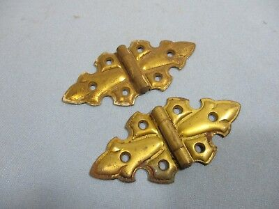 Pair Antique Butterfly Hinges - Open/Close Easily
