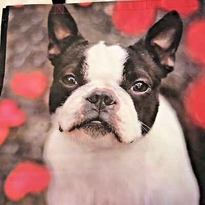 Boston Terrier Dog Large 100% Recyclable Reusable Eco Shopping Tote Bag