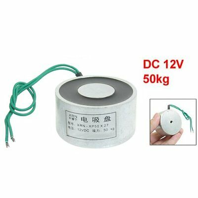 Sucked Electric Lifting Magnet Electromagnet 12VDC 50Kg 110LB 50x27mm N2G1