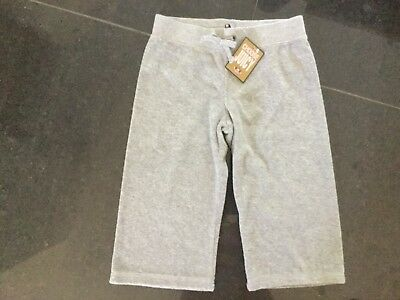 NWT Juicy Couture New & Genuine Grey Crop Leg Cotton Tracksuit Pants Girls Age 8