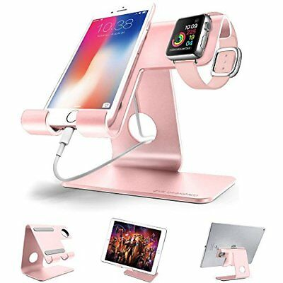 2 in 1 Universal Cell Phone Stand & Apple iwatch Charging Stands Dock Rose Gold