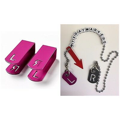 RADIOGRAPHERS SET! Xray clip, tablet and foreign body markers with chain