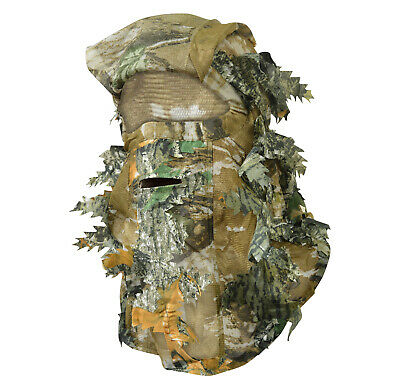 Nitehawk Adults Woodland Camo/Camouflage Hunting 3D Leaf Mask