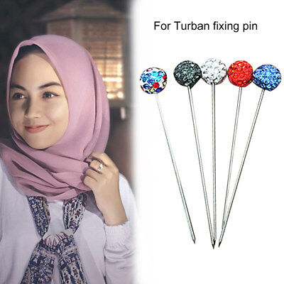 30Pcs Islamic Hijab Head Scarf Pins Brooch Abaya Muslim Underscarf Accessories