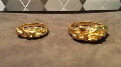 Two Nugget Look Rings. Size 8 & 5, Marked . (7)