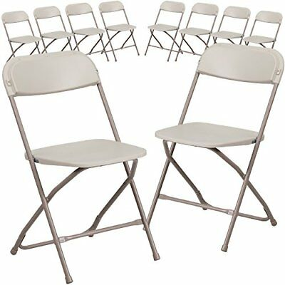 Folding Chairs Outdoor 10 pack Seats For Rest Kids Adults Plastic Herculies
