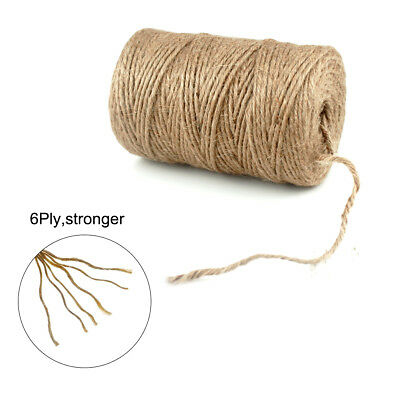 Duty Thick 6Ply Jute Twine Heavy Natural Garden Twine Packing String Rope 100M