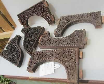 Vintage Carved Wood Part Furniture Antique Carved Oriental Asian Arabic Rococo