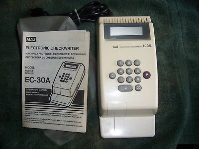 MAX Electronic Check Writer-  EC-30A