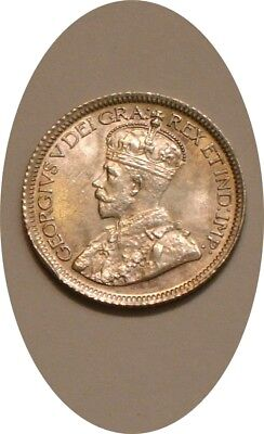 1936 Silver Ten Cents 10¢ of Canada frosty Choice BU GEORGE V