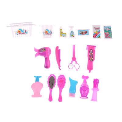 Mini Doll Kitchen Cleaning Set Furniture Toys Doll house Accessory For barbie MW