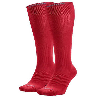 af6dcd9f409 Nike Baseball Socks 2 Pair Men s Over the Calf Crimson Red Performance  Cushioned
