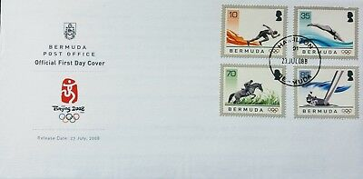 Bermuda Stamps, First Day Cover, Beijing 2008 - 23/7/2008