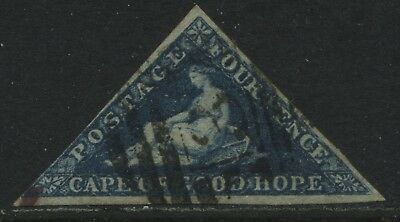 Cape of Good Hope 1855 4d blue used much nicer than average