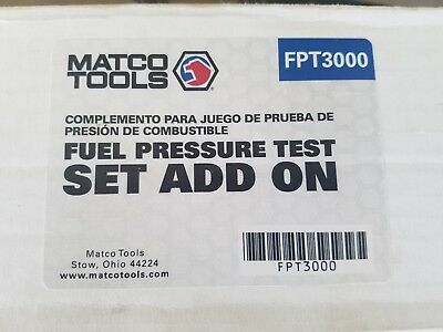 Matco Tools Fuel Pressure Test Set Add-On #fpt3000 Missing A Couple Of Pieces