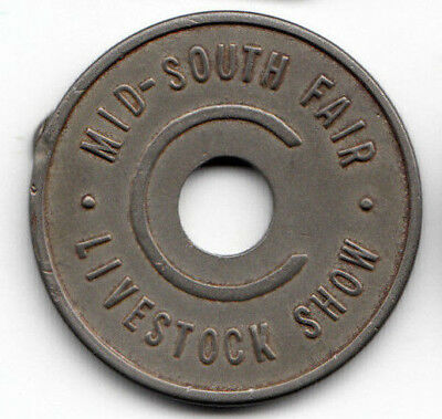 Memphis TN token - Mid-South Fair Livestock Show -  Rate C Admission - Tennessee