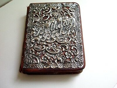 1902 Solid Sterling Silver Shakespeare Birthday Book - Illustrated - Art Nouveau