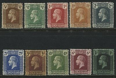 Cayman Islands KGV 1921-25 1/4d to 1/  mint o.g.