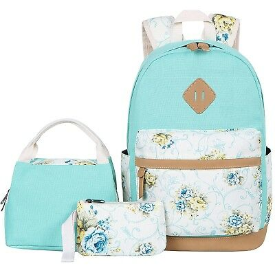 3936d09ccf BLUBOON TEENS BACKPACK Set Canvas Girls School Bags