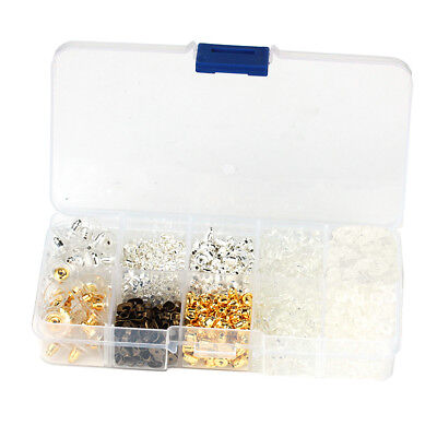1040 Pcs Mixed Ear Stud Earrings Back Stopper Earring Safety Backs Earnuts