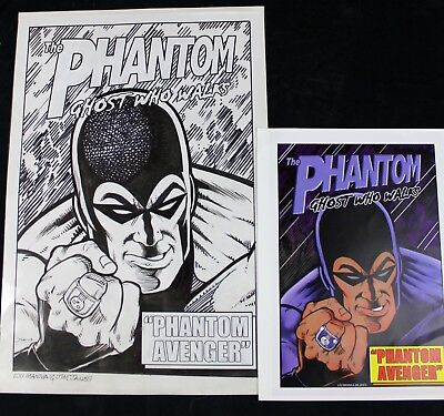 Original Comic Art Cover The Phantom by Lou Manna and Jimmy Janes - Signed