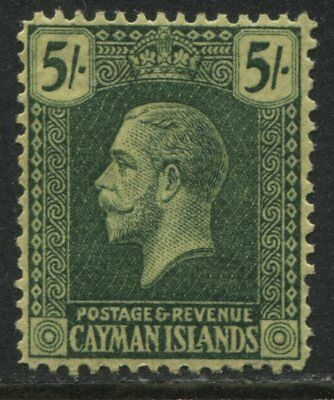Cayman Islands KGV 1921 5/ green mint o.g.