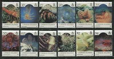 Cayman Islands QEII 1986 complete set to $4 unmounted mint o.g.