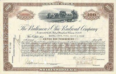 The Baltimore and Ohio Railroad Company v. 30.10.1947 über 100 Shares
