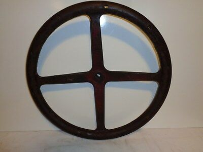 Antique CAST IRON STEERING WHEEL for INTERNATIONAL HARVESTER TRACTORS~farm tool
