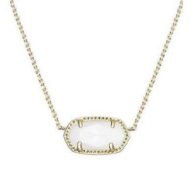 NWT Kendra Scott Elisa Short Necklace White Shell Mother of Pearl Gold Tone