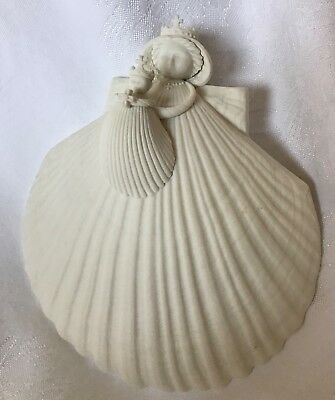 "1996 Margaret Furlong 6"" Madonna of the Cross - Madonna & Child Seashell Angel"