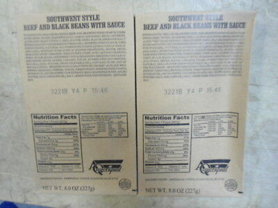 US Govt. MRE Entree Southwest Style Beef & Black Bean with Sauce  (lot of 4)