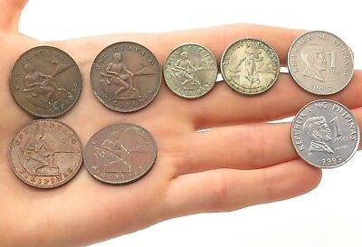 Republika Filipinas/ Philippines 1940s Random Various Collectible Coins Lot of 8