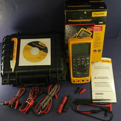 New Fluke 789 ProcessMeter, Extra Leads, Foam-Lined Hard Case, Box, See Details